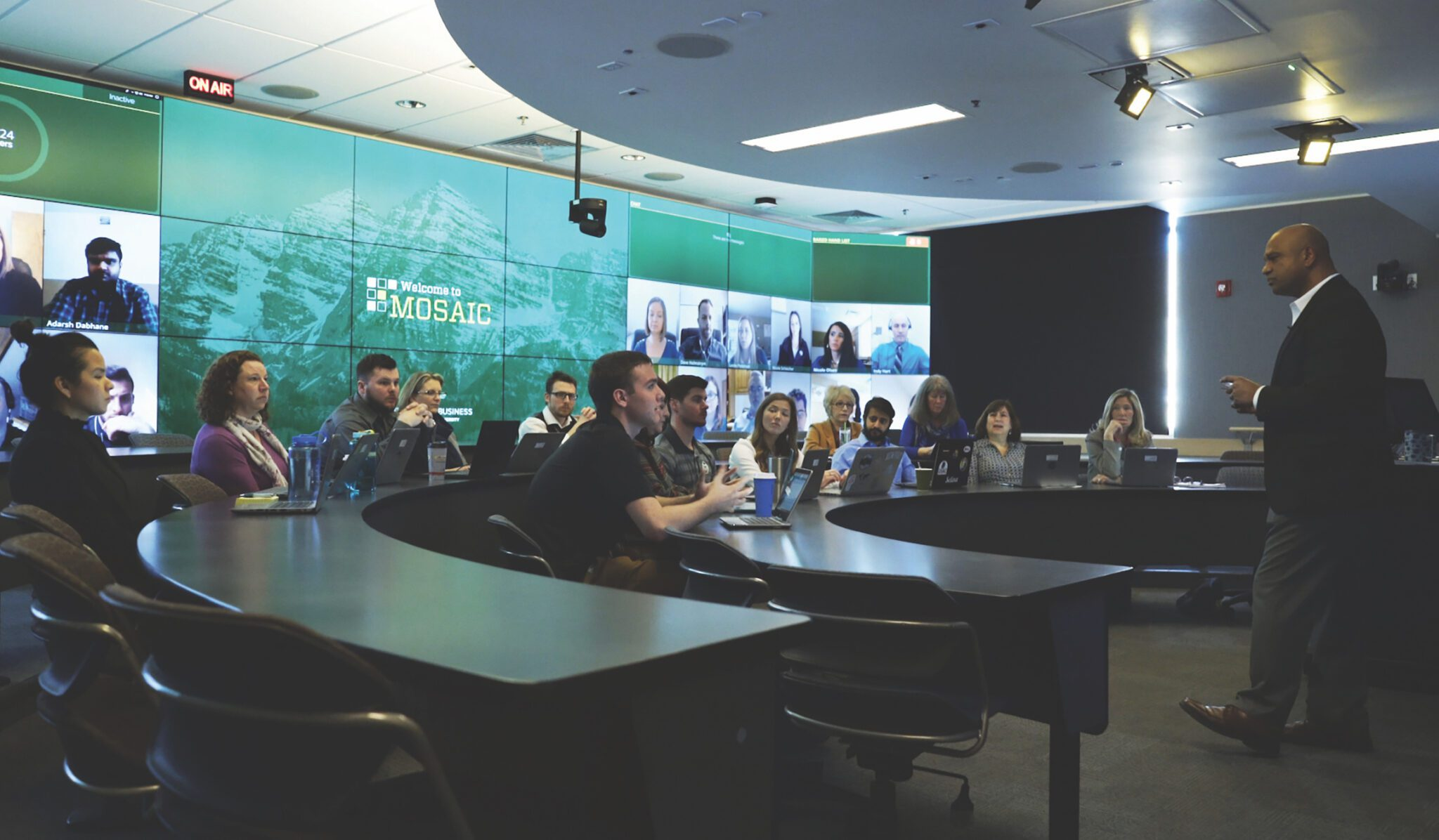 CSU's College of Business announced today the addition of a unique, state-of-the-art technology that creates a blended classroom connecting on-campus and online students in real time.